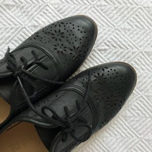 Leather Oxfords Restricted Shoes